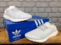 ADIDAS LADIES UK 5 ULTRA BOOST UNCAGED LTD WHITE GREY TRAINERS CHILDRENS
