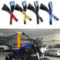 Universal CNC Motorcycle Rearview Side Mirrors For Honda Suzuki Yamaha Scooter