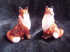 Lovely boxed ceramic fox salt and pepper set