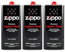 Zippo Premium Lighter Fluid 12 fl oz. (355ml) For All Zippo Lighters (Pack Of 3)
