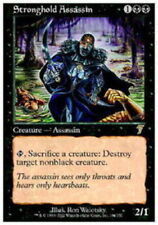 MTG magic cards 1x x1 Light Play, English Stronghold Assassin 7th Edition