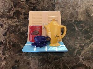 FIESTA® VIGNETTE COFFEE BREAK COFFEE SERVER / POT / COFFEE CUP MAGNET - NEW