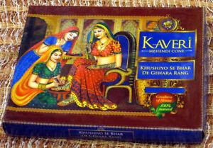 12 X Natural Herbal Henna Mehandi Cones Temporary Tattoo kit Body Art Kaveri