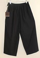 NWT Eskandar Japanese Trouser Black Virgin Wool Silk Luxury Pants Sz 0