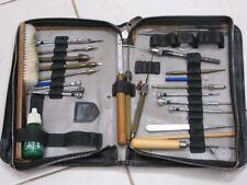 Rare pochette d'outils Horloger Watchmakers tools Uhrmacher Werkzeuge Orologiaio