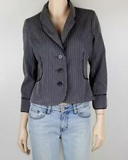 Women's Striped Cotton Blend Basic Jackets