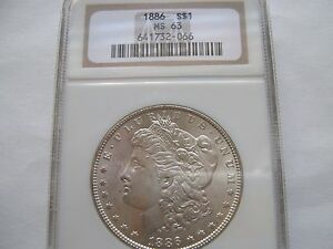 1886 Morgan Dollar - MS-63 NGC
