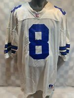 VTG Dallas COWBOYS Troy AIKMAN 8 Russell Athletic NFL Football Jersey Mens 52
