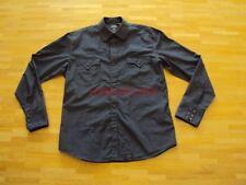 Original G-Star Raw Denim Jeans Hemd Shirt langarm blau mit kleinem Streifen XL