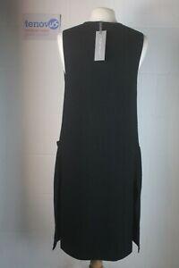 WB312 Mint Velvet Black Longline Double Knit Waistcoat Size Extra Small