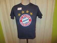 """FC Bayern München Original Fan Shop T-Shirt Navy """"FC Bayern Logo"""" Gr.140 NEU"""