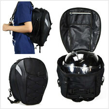 High Capacity Universal Motorcycle ATV Rear Seat Rider Backpack Helmet Bag Black