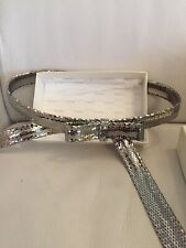Beautiful MaxMara Max Mara Silver Bow Belt Snake Chain Mail
