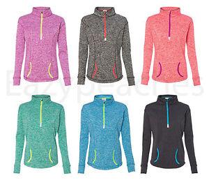 Peaches, Ladies Cosmic Fleece Pullover, 1/4 Zip, Sweatshirt, Women's, S-3XL