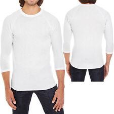 American Apparel Mens T-Shirt 3/4 Sleeve Raglan Baseball Tee XS S, M, L, XL NEW!