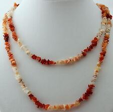 FEUEROPAL Edelstein KETTE endlos 90 cm lang Splitterkette, Halskette, Feuer opal