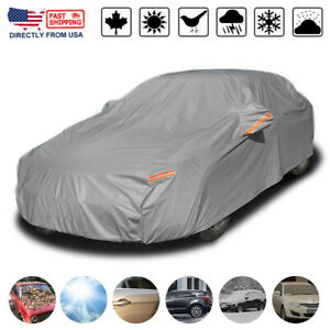 Heavy Duty Waterproof Full Car Cover All Weather Protection Outdoor Dustproof US