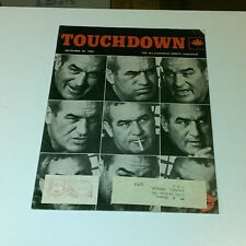 1962 SEPTEMBER 29 TOUCHDOWN THE ALL-CANADIAN SPORTS MAGAZINE CFL VERY RARE