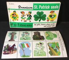 Vtg Dennison St Patrick's Seals Booklet Gummed Labels + Franciscan Friars Stamps