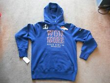 Authentic Nike Denver Broncos Super Bowl 50 Won More NFL Hoodie Men M NEW SHARP