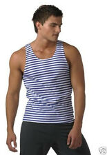 Singlet Striped Vest Frock Russian Soviet Traditional Men Clothing Size S-M