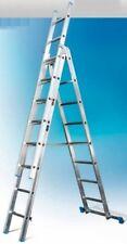 Scala Industriale Componibile Italia Alluminio 3 Tronchi Pioli 11x3 A09AE3/350