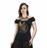 Spiral Steampunk Dragon Top Langarm Gothic Shirt M/L - Neu