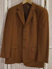 """ATWARDSON Men's Pure Cashmere Jacket 47"""" Chest Blazer Sports Coat Russet Brown"""