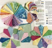 LG DRESDEN PLATE FABRIC LOT, Over 200 Quilt Wedges, No Raw Edges, MUCH MORE!