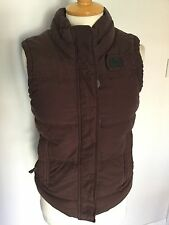 Superdry Ladies Burgundy Down/Feather Gilet Size S (No Hood) Good Condition.