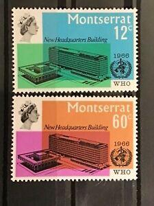 Montserrat stamps QEII 1966 WHO HQ inauguration MNH