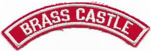 Brass Castle Red and White RWS Community Strip Vintage Boy Scouts BSA