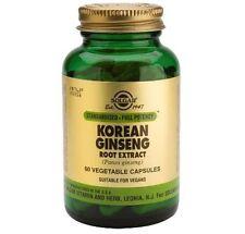 Solgar Korean Ginseng Root Extract Beta-Carotene Prep 250 mg 60 Capsules