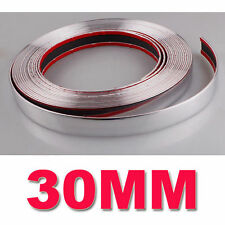 30MM x 15M Chrome Car Styling Moulding Strip Trim Adhesive Crash Protecter Decal