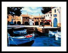 """Pequeno Puerto"" by Steve Hepburn (Art/Lithograph/Contemporary/Boat)"