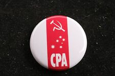 """Communist Party of Australia CPA Australian 1"""" Badge Pin Made in USA"""