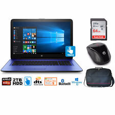 "HP Notebook 17 Bundle, AMD A12, 2TB HD, 12GB, 17.3"" TouchScreen, Office 365 1-Yr"