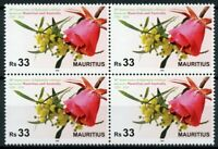 Mauritius Flowers Stamps 2020 MNH Diplomatic Relations with Australia 4v Block