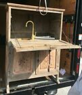 Drop Front Spanish Country Cabinet Modified w/ Interior Faucet & Sink