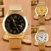 Geneva Mens Watch Analog Quartz Bracelet Stainless Steel Wrist Watch Mens Vogue