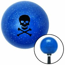 Black Skull & Bones Blue Metal Flake Shift Knob wrecker bert 18 degree 1932 956