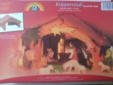 Ostheimer Krippenstall 3500 mit Stern und Vogelbrett (ohne Bodenplatte)