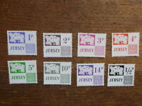 JERSEY 1971- 8 DEFFERENT POSTAGE DUE MINT STAMPS
