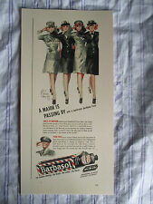 """Vintage Barber Color Sign Ad BARBASOL Sexy Pin Up Model Signed Litho """"WWII"""""""