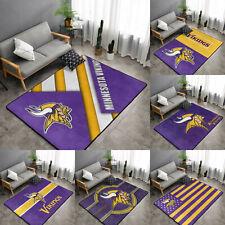 Minnesota Vikings Rugs Anti-Skid Area Rug Living Room Bedroom Floor Mat Carpet