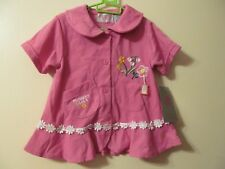 NWT Girl's KHQ Sportswear Pink Dress w/embroidered flowers Sz 5