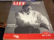 VINTAGE LIFE - 5/31/54 - EILLIAM HOLDEN TOP STAR OF 54  - GREAT ADS