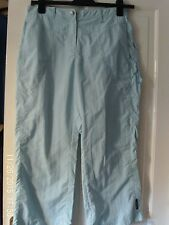 BLUE  CROPPED TROUSERS, SIZE 14
