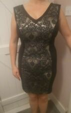 Black and Gold party dress size 12