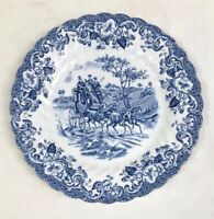 Coaching Scenes, Johnson Bros England, Ironstone Hunting Country Plate, 6-1/4""